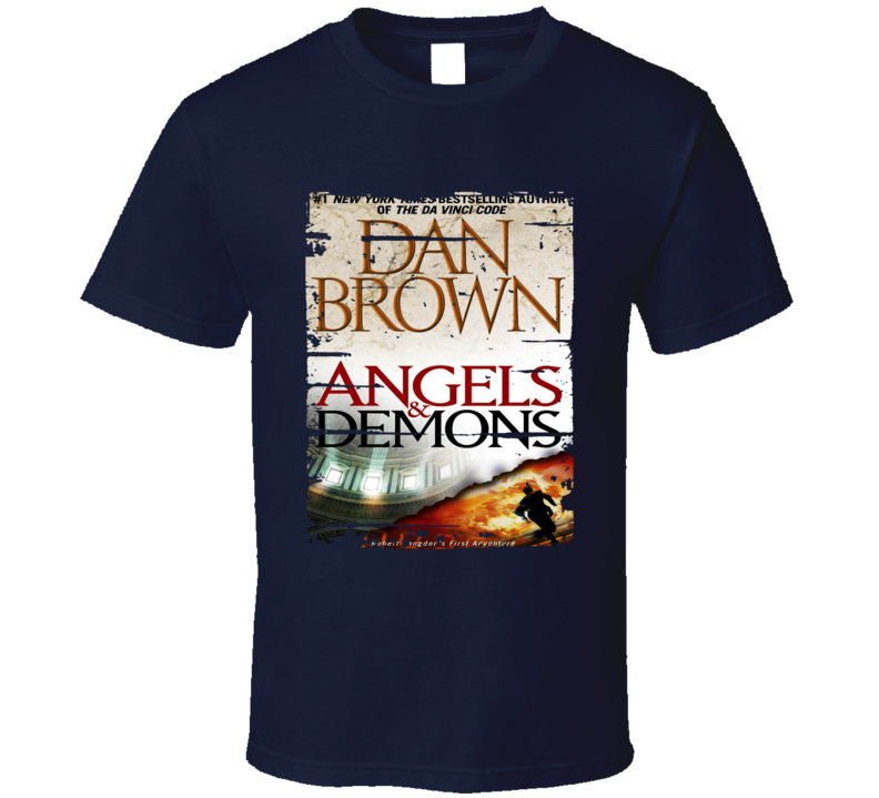 Angels And Demons Book Lover Worn Look Awesome Literary T Shirt