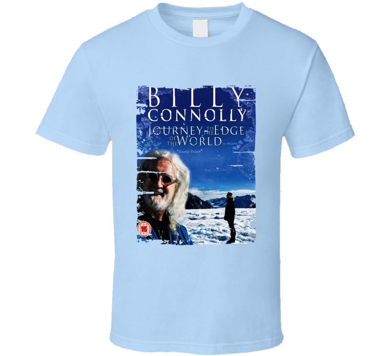 Billy Connolly Journey To Edge Worldworn Look Awesome Literary T Shirt