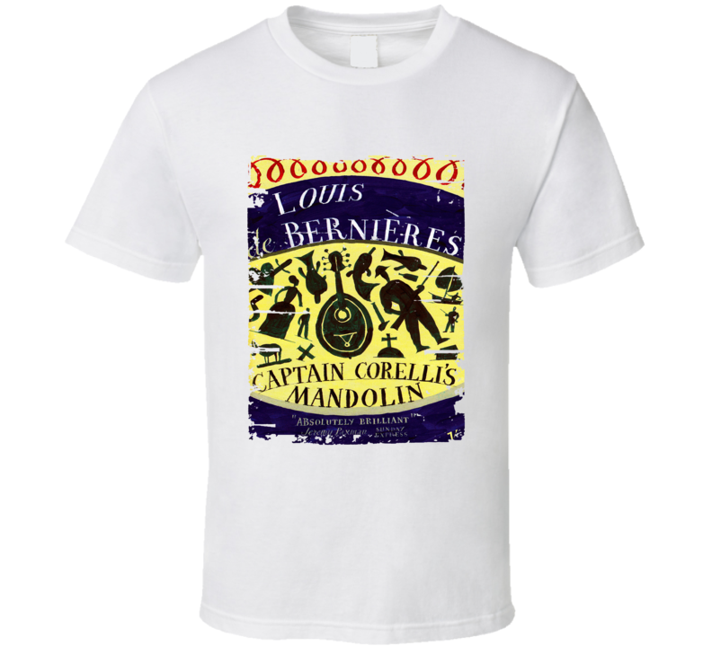 Captain Corelli's Mandolin Book Worn Look Awesome Literary T Shirt