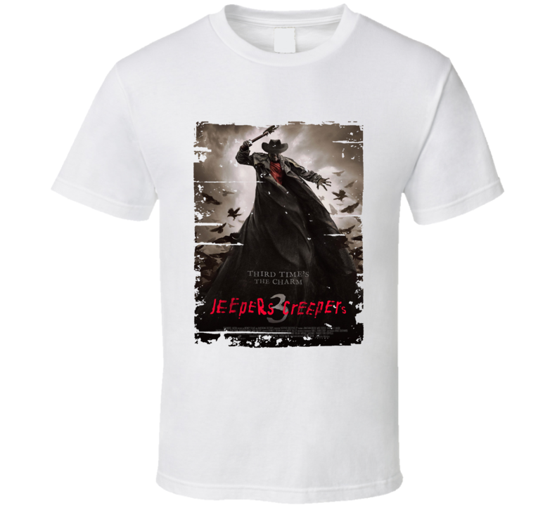 Jeepers Creepers Iii Poster Cool Film Worn Look Movie Fan T Shirt