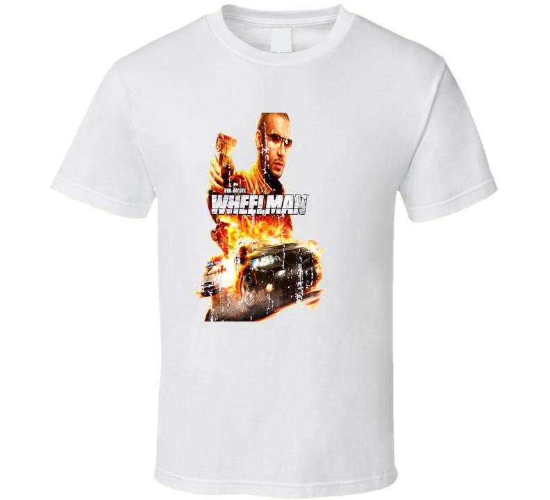 Wheelman Poster Cool Film Worn Look Movie Fan T Shirt