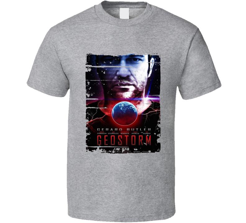 Geostorm Poster Cool Film Worn Look Movie Fan T Shirt