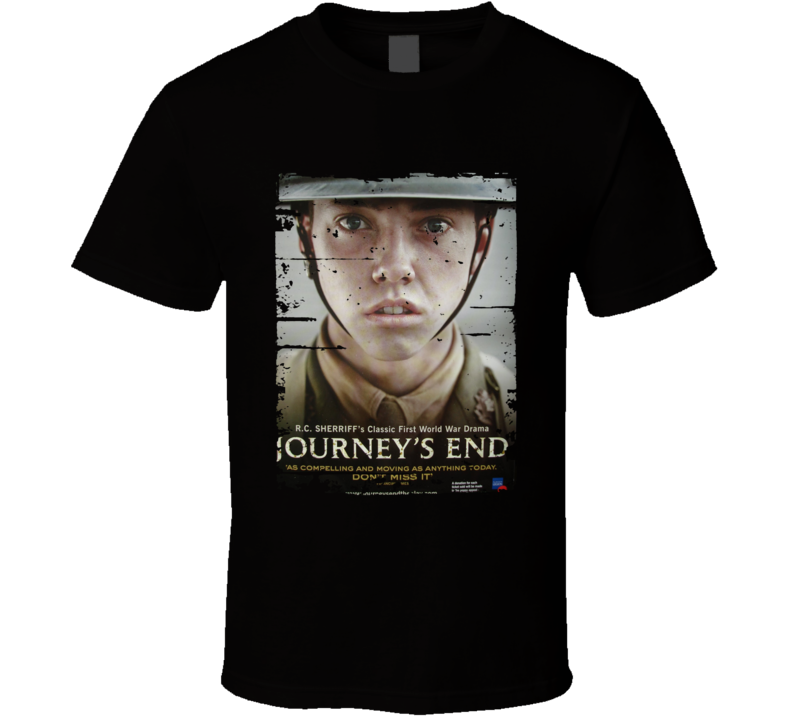 Journey's End Poster Cool Film Worn Look Movie Fan T Shirt