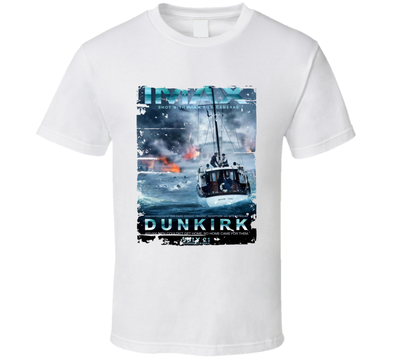 Dunkirk Poster Cool Film Worn Look Movie Fan T Shirt