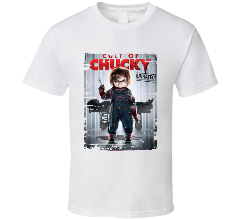 Cult Of Chucky Poster Cool Film Worn Look Movie Fan T Shirt