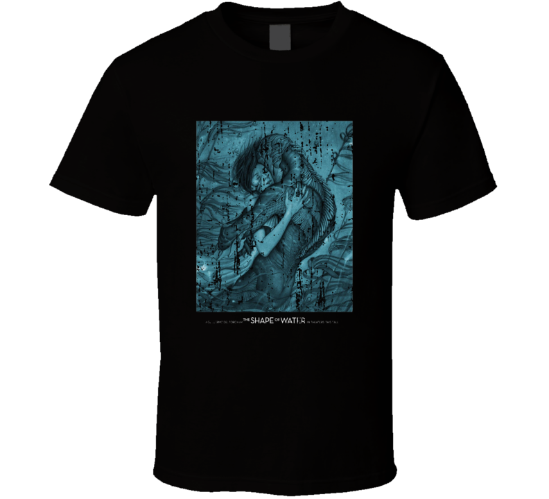 The Shape Of Water Poster Cool Film Worn Look Movie Fan T Shirt