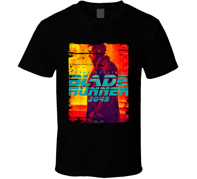 Blade Runner 2049 Poster Cool Film Worn Look Movie Fan T Shirt