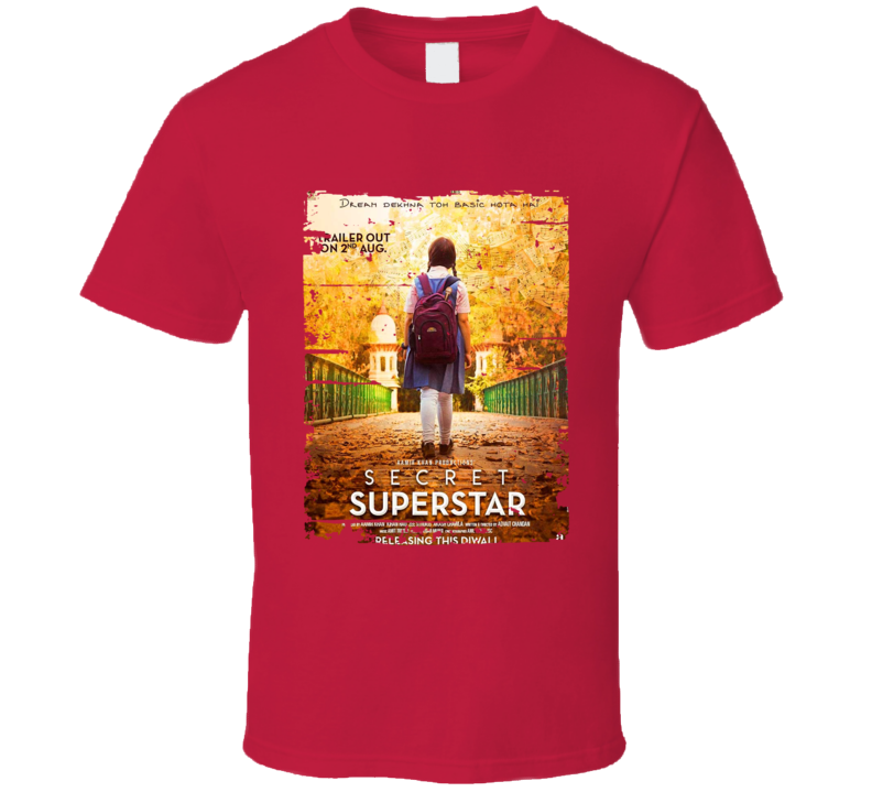 Secret Superstar Poster Cool Film Worn Look Movie Fan T Shirt