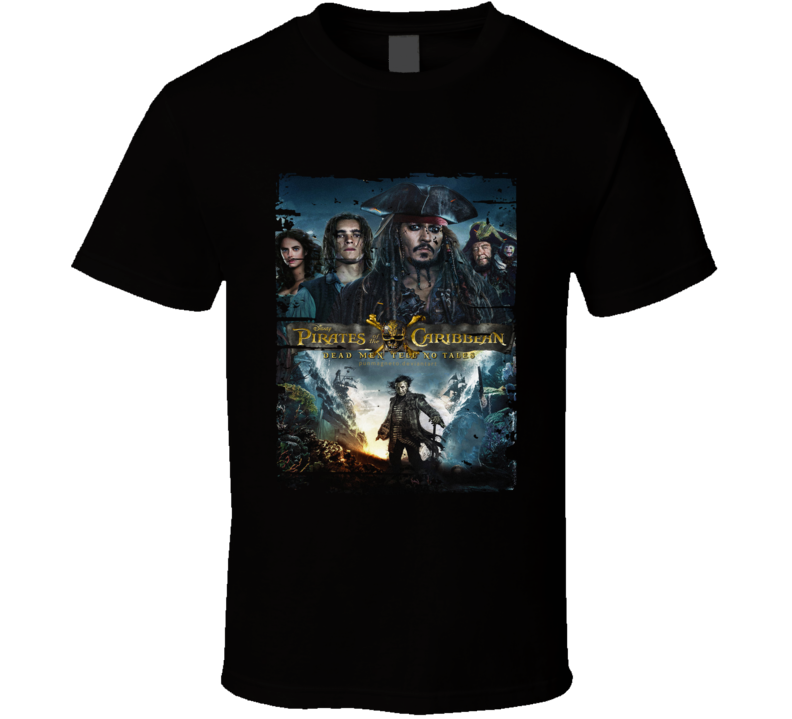 Dead Men Tell No Tales Poster Cool Film Worn Look Movie Fan T Shirt