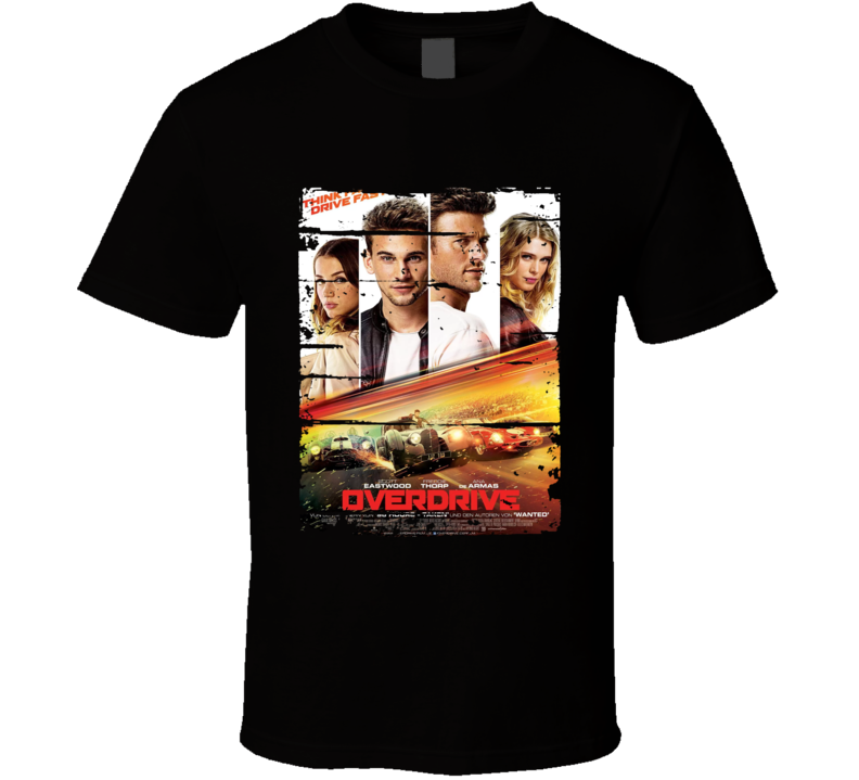 Overdrive Poster Cool Film Worn Look Movie Fan T Shirt