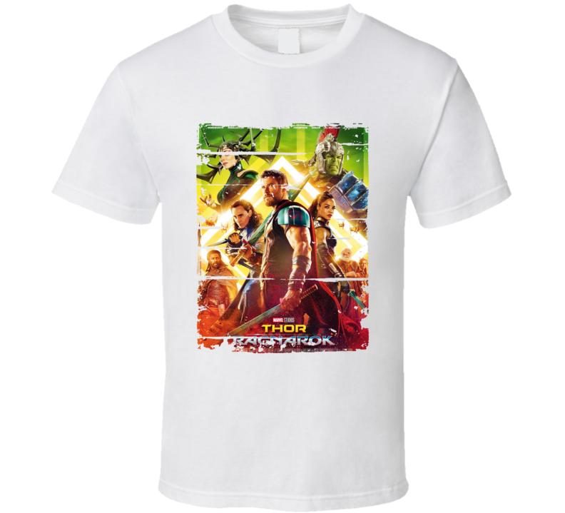 Thor Ragnarok Poster Cool Film Worn Look Movie Fan T Shirt