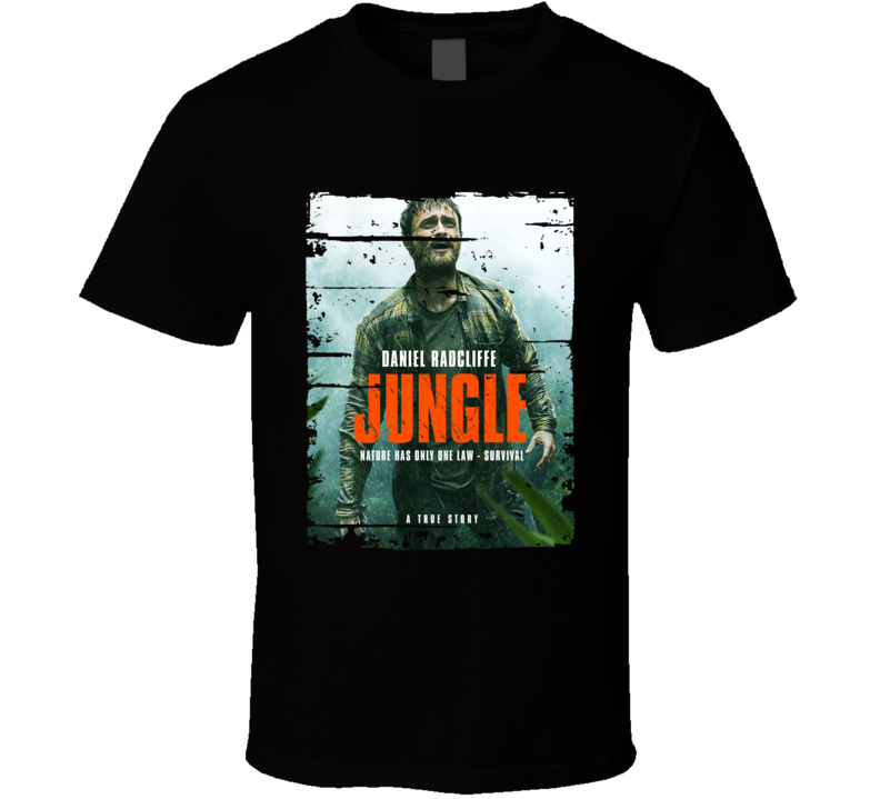 Jungle Poster Cool Film Worn Look Movie Fan T Shirt