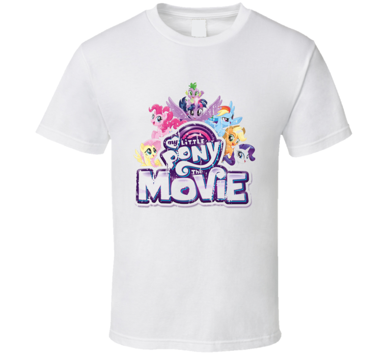 My Little Pony The Movie Poster Cool Film Worn Look Movie Fan T Shirt