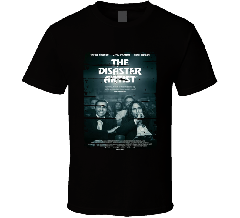 The Disaster Artist Poster Cool Film Worn Look Movie Fan T Shirt
