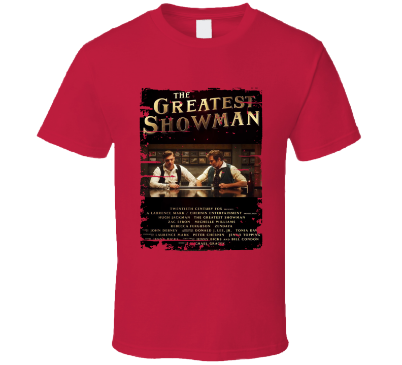 The Greatest Showman Poster Cool Film Worn Look Movie Fan T Shirt
