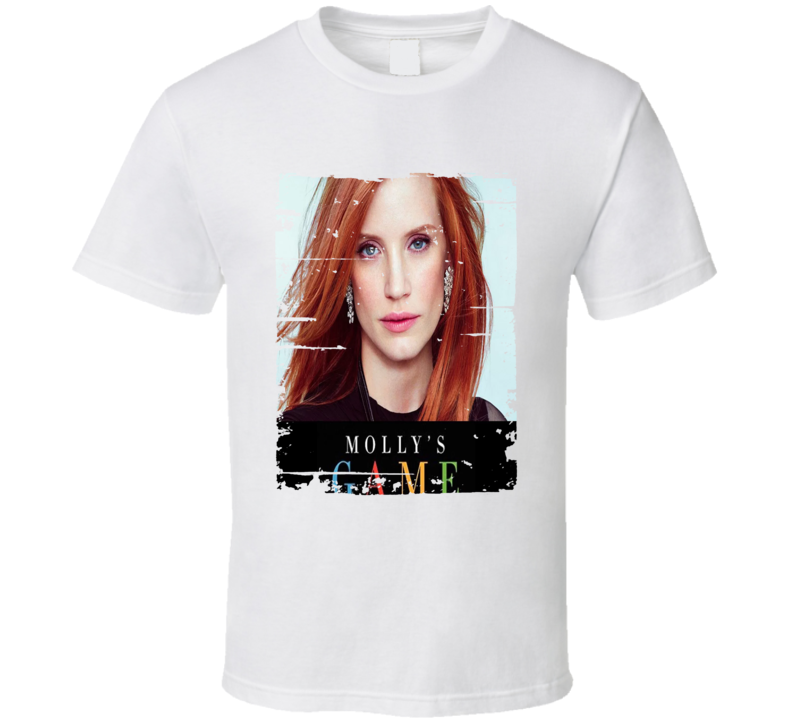 Molly's Game Poster Cool Film Worn Look Movie Fan T Shirt