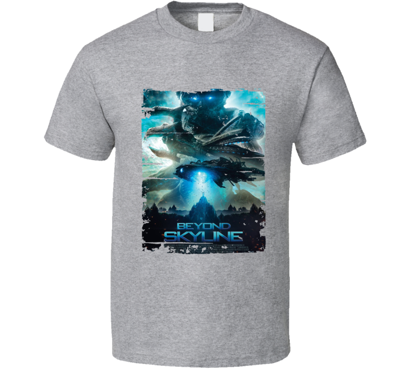 Beyond Skyline Poster Cool Film Worn Look Movie Fan T Shirt