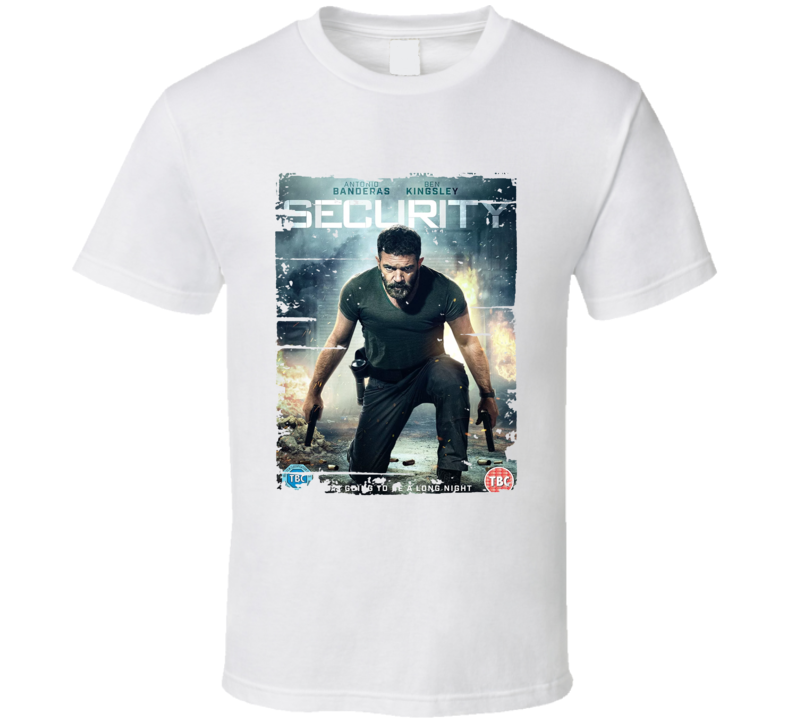 Security Poster Cool Film Worn Look Movie Fan T Shirt