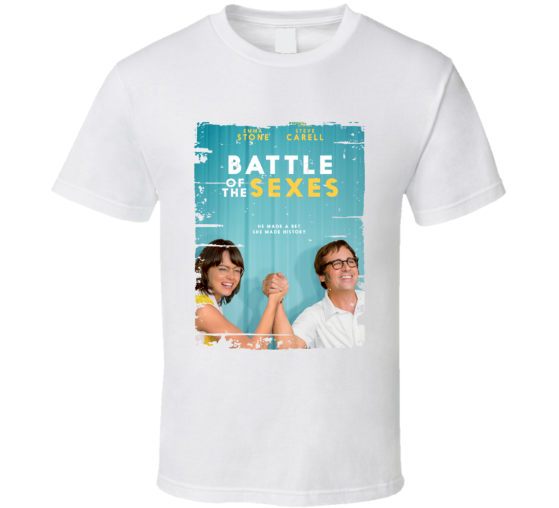 Battle Of The Sexes Poster Cool Film Worn Look Movie Fan T Shirt
