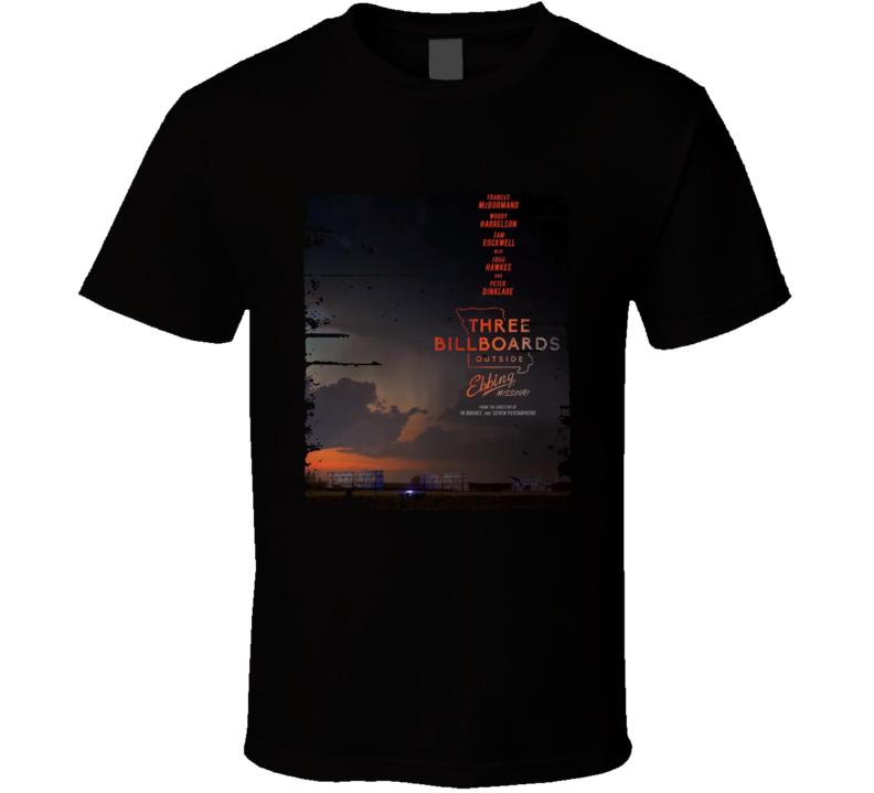 Three Billboards Outside Ebbing Missouri Worn Look Movie Fan T Shirt