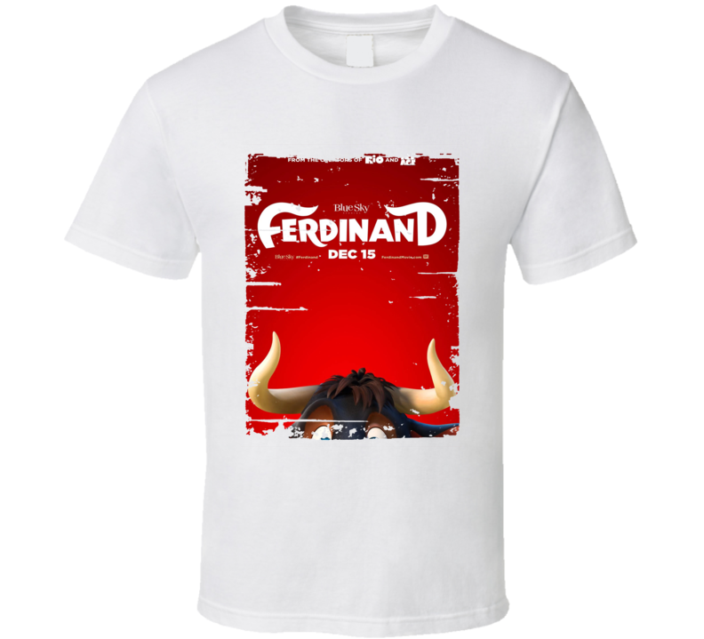 Ferdinand Poster Cool Film Worn Look Movie Fan T Shirt