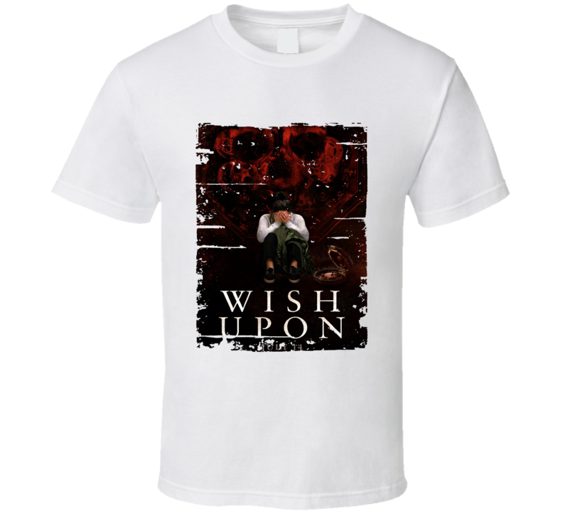 Wish Upon Poster Cool Film Worn Look Movie Fan T Shirt