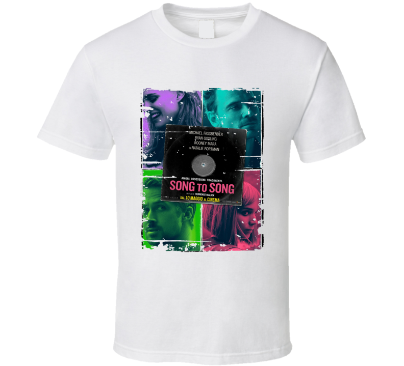 Song To Song Poster Cool Film Worn Look Movie Fan T Shirt