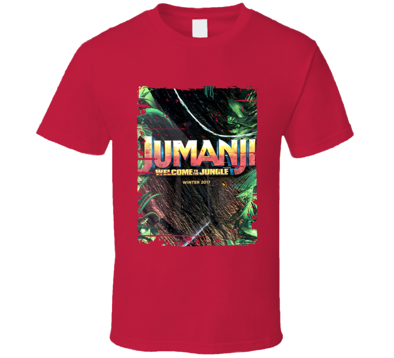 Jumanji Welcome To The Jungle Poster Film Worn Look Movie Fan T Shirt