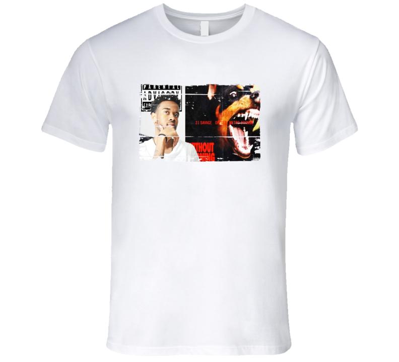 21 Savage Offset Metro Boomin Without Warning Album Worn Look T Shirt