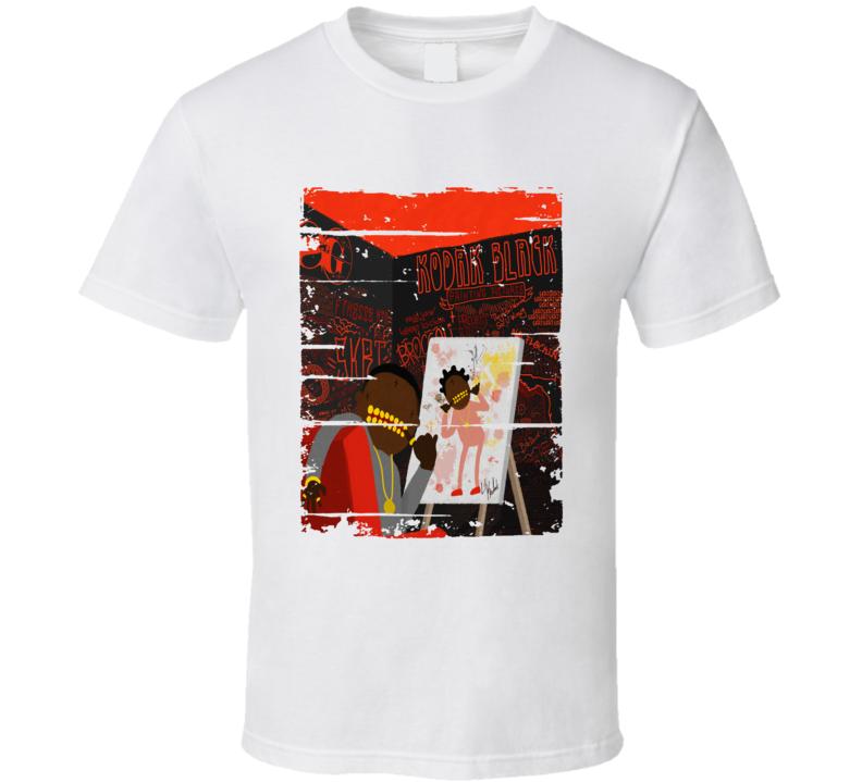 Kodak Black Painting Pictures Album Worn Look Music T Shirt