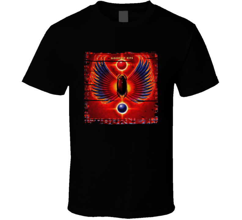 Journey Journey's Greatest Hits Album Worn Look Music T Shirt