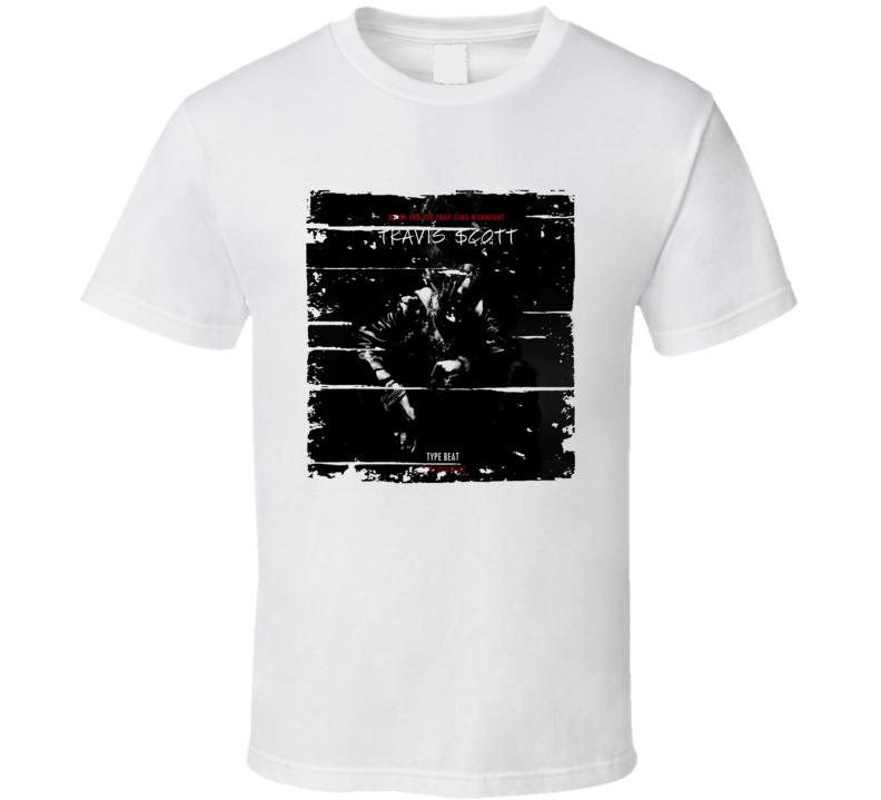 Travis Scott Birds In Trap Sing Mcknight Album Worn Look Music T Shirt