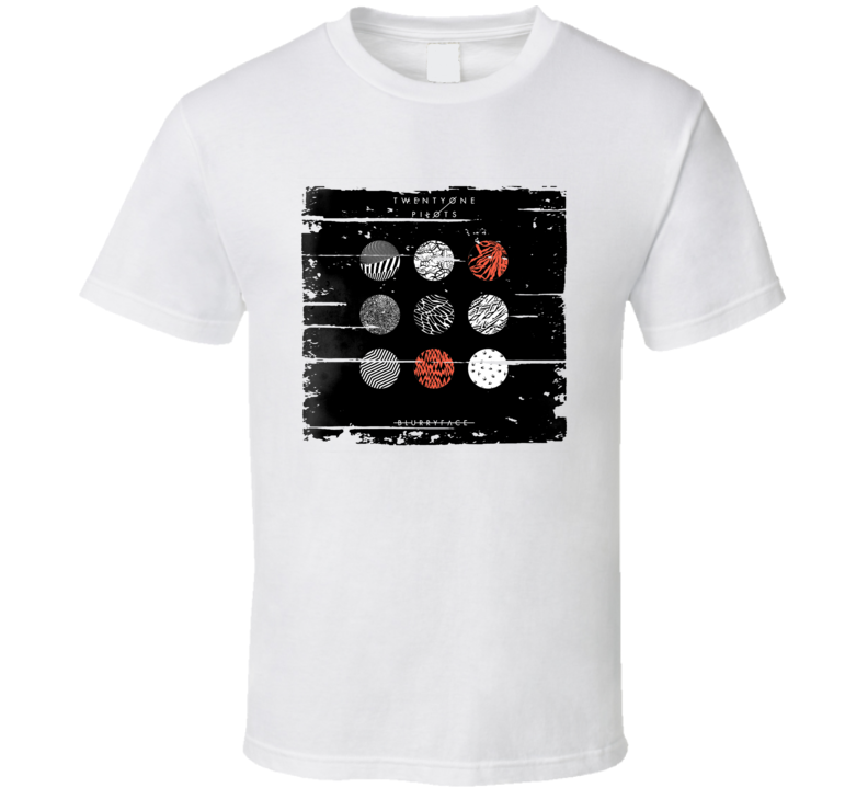 Twenty One Pilots Blurryface Album Worn Look Music T Shirt