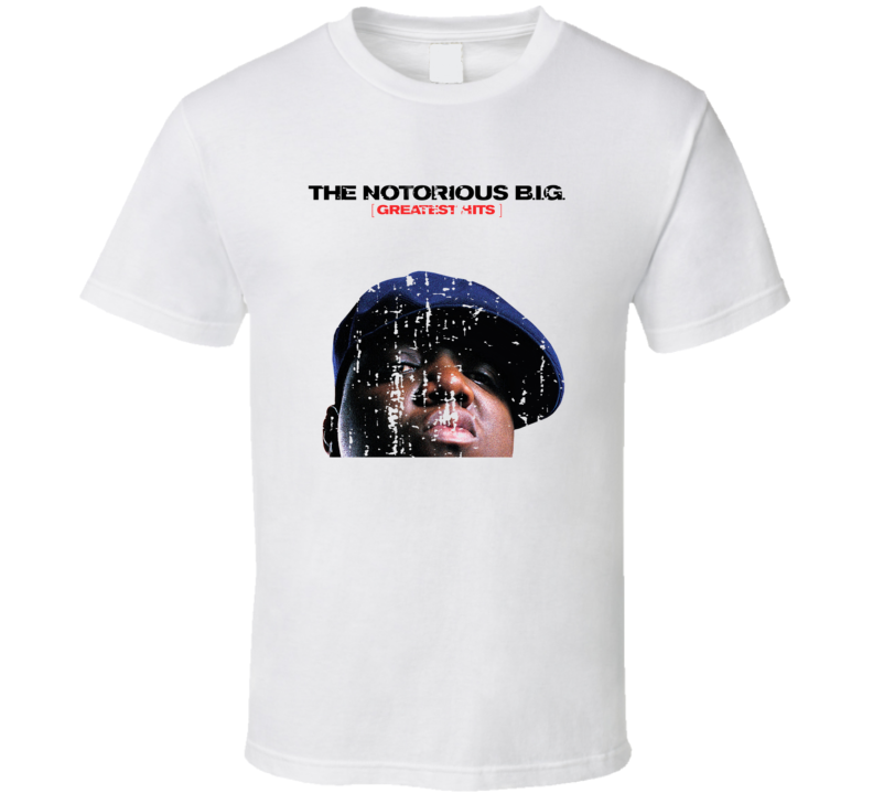 The Notorious B.i.g. Greatest Hits Album Worn Look Music T Shirt