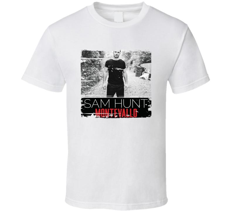 Sam Hunt Montevallo Album Worn Look Music T Shirt