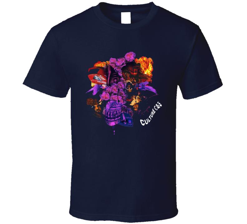 Migos Culture Album Worn Look Music T Shirt