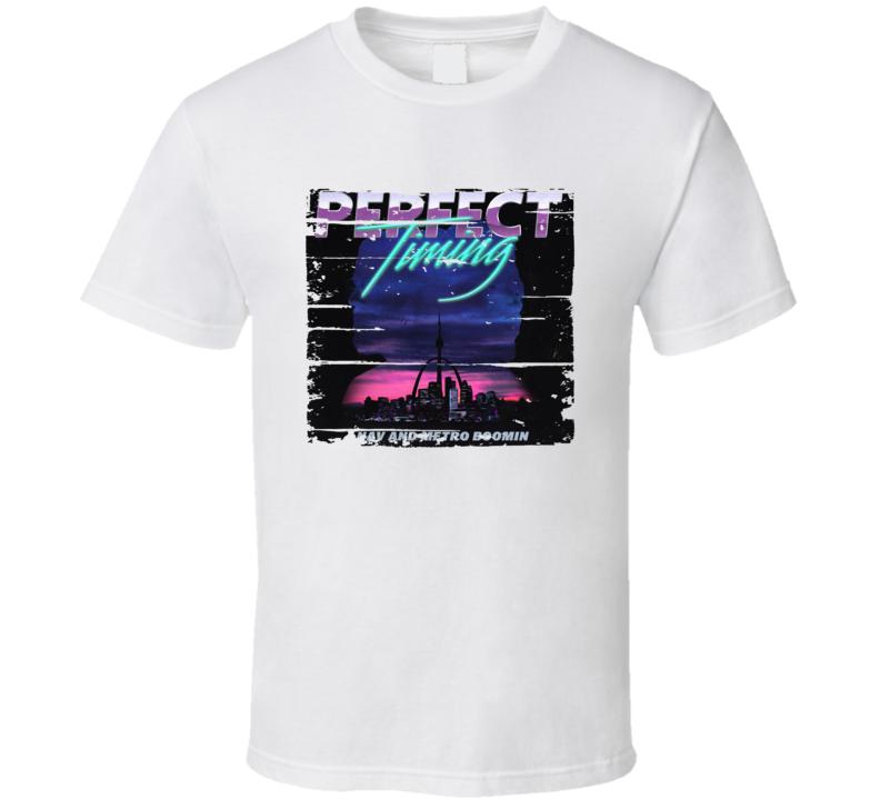 Nav And Metro Boomin Perfect Timing Album Worn Look Music T Shirt