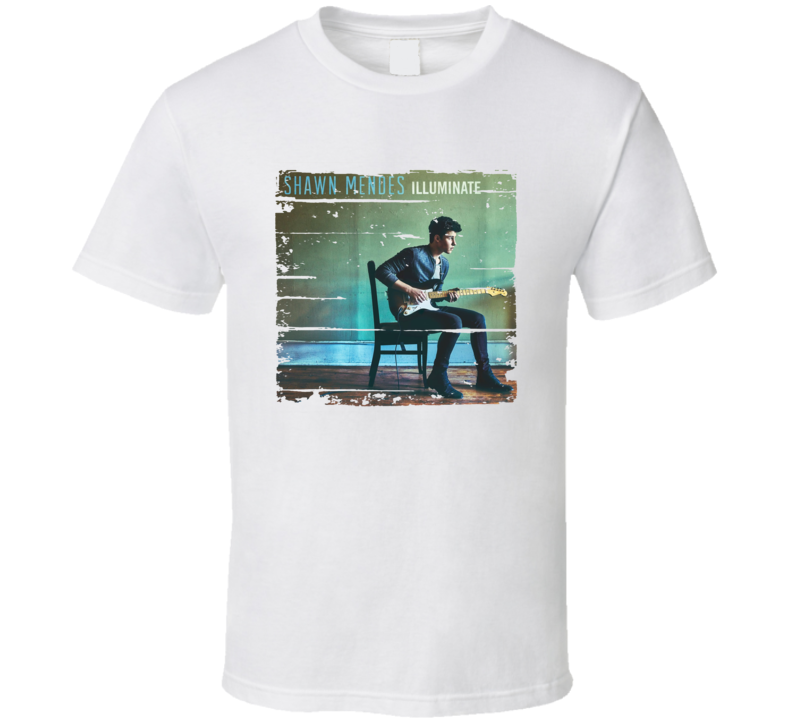 Shawn Mendes Illuminate Album Worn Look Music T Shirt