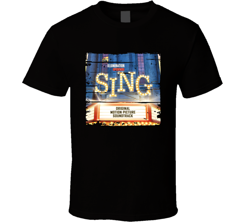 Soundtrack Sing Album Worn Look Music T Shirt