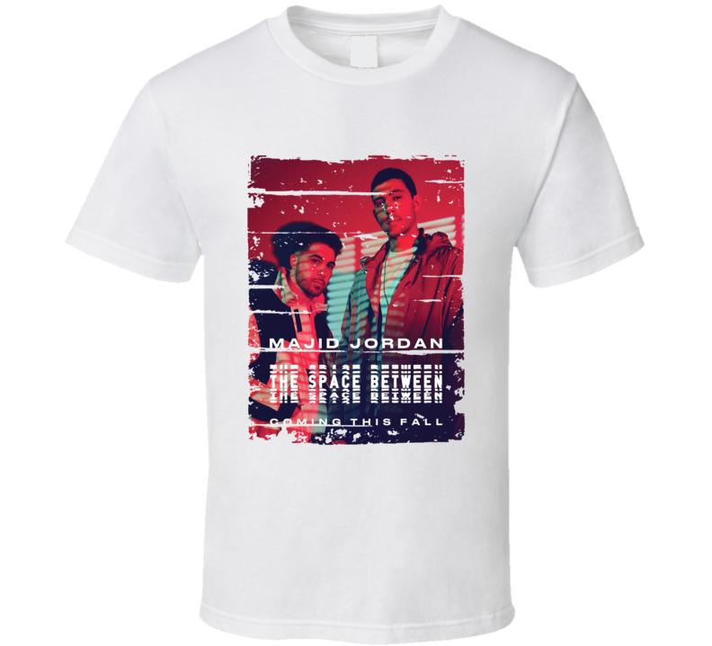 Majid Jordan The Space Between Album Worn Look Music T Shirt