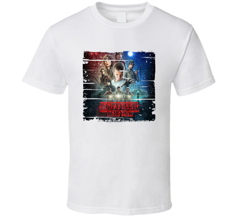 Soundtrack Stranger Things Volume One Album Worn Look Music T Shirt