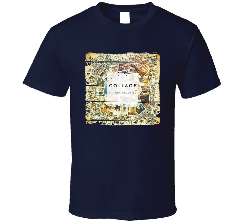 The Chainsmokers Collage (ep) Album Worn Look Music T Shirt