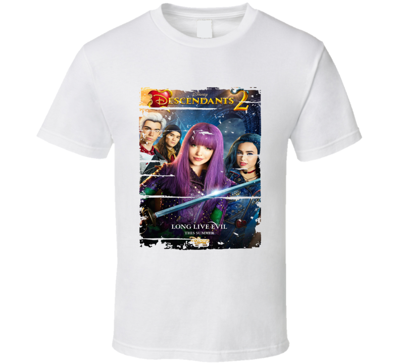 Soundtrack Descendants 2 Album Worn Look Music T Shirt