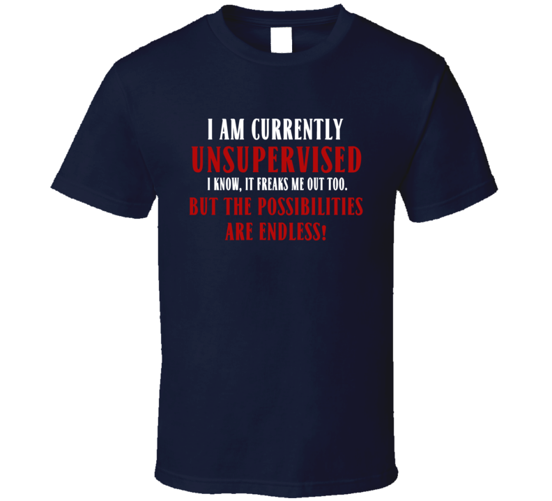 I Am Currently Unsupervised But The Possibilities Are Endless Funny T Shirt