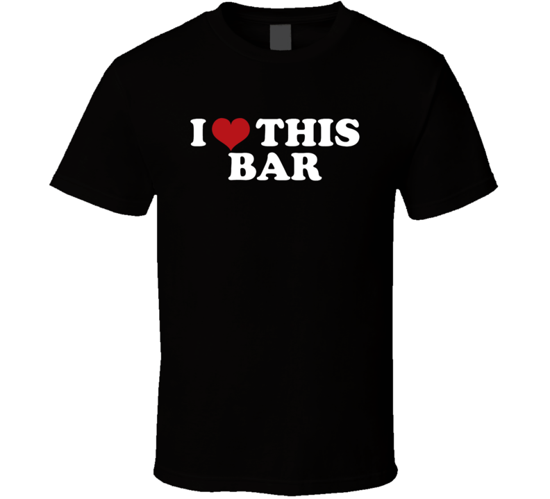 I Love Heart This Bar Funny Trending Beer T Shirt