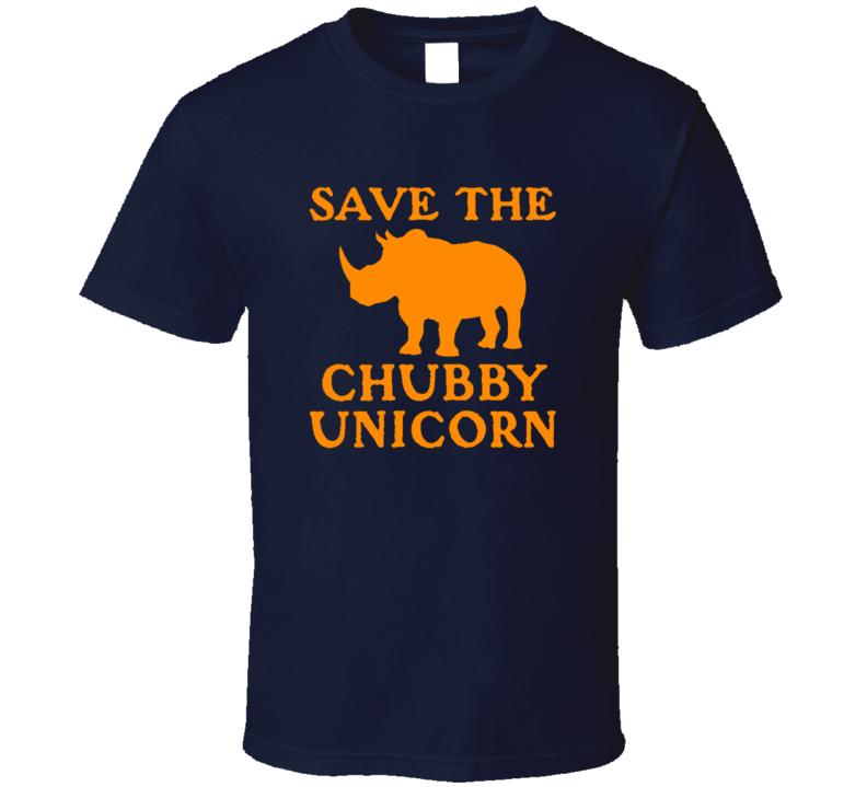 Save The Chubby Unicorn Funny Trending X Mas Gift Cool T Shirt