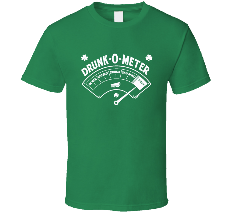 Drunk O Meter Funny Irish St Patricks Day X Mas Gift T Shirt