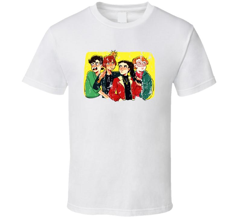 Stranger Things Tv Series Cartoon Characters X-mas Worn Look T Shirt