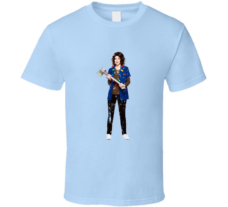 Stranger Things Tv Show Joyce Character Trending Worn Look T Shirt