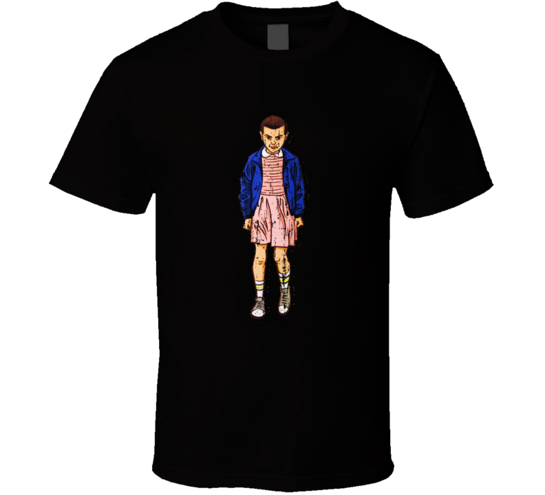 Stranger Things Tv Show Eleven Character Trending Worn Look T Shirt
